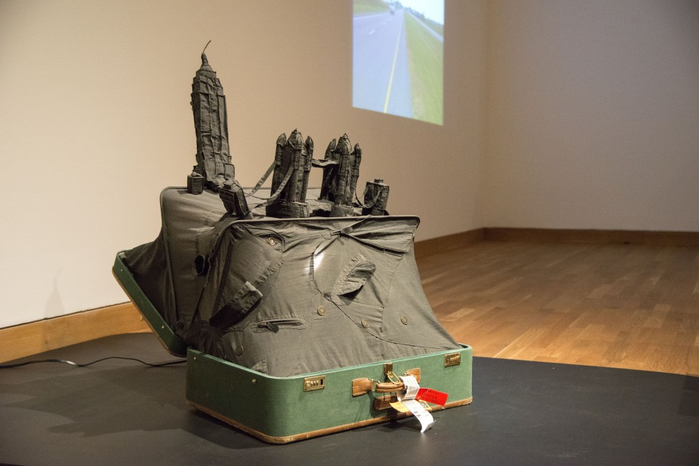 An art piece by Yin Xiuzhen sits on display on Friday, Feb. 1 at the Weisman Art Museum on East bank. The piece is part of an exhibition entitled