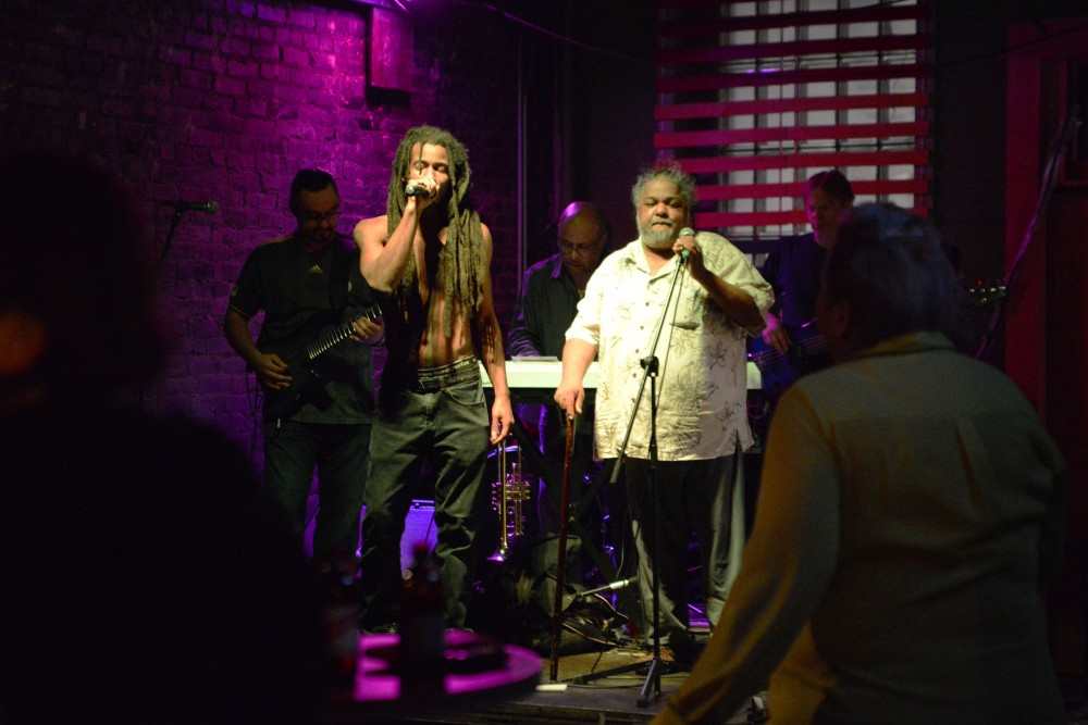 A live Jamaican band performs on Saturday, March 23 at Pimento Jamaican Kitchen in Minneapolis. The performance was part of the restaurant's celebration of 3 years in Minneapolis.