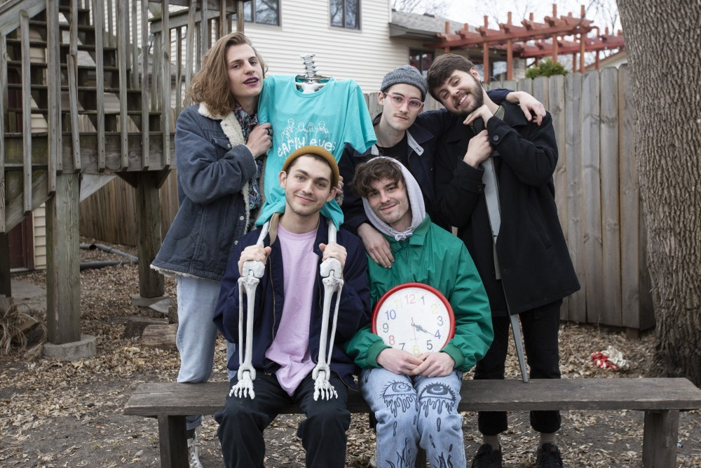 Early Eyes poses for a portrait in their Northeast Minneapolis backyard on Thursday, April 4.