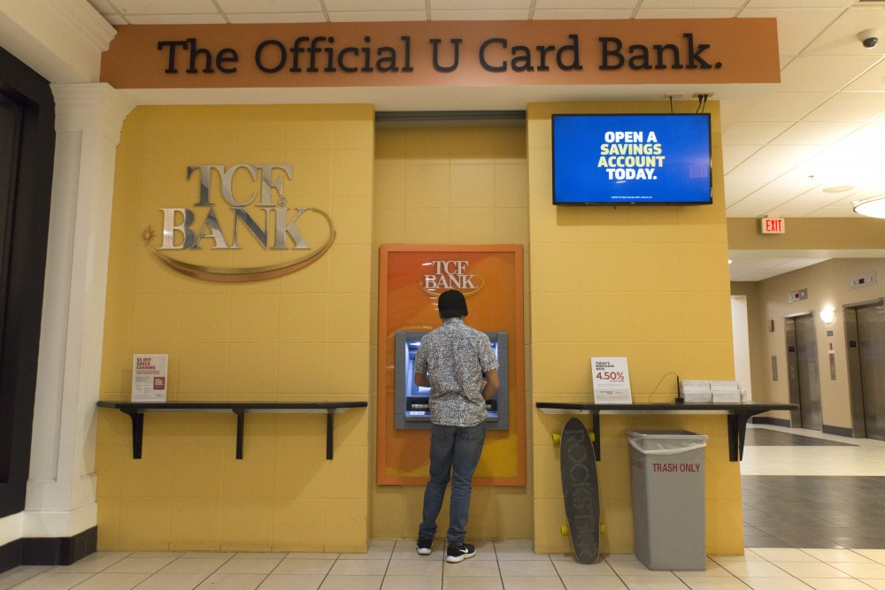 TCF Bank as seen in Coffman Union on Monday, April 8.
