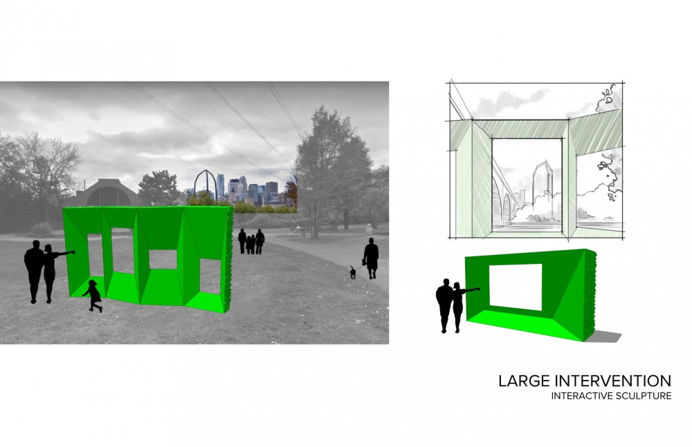Rendering of frame scales that will go in the Marcy Holmes neighborhood.