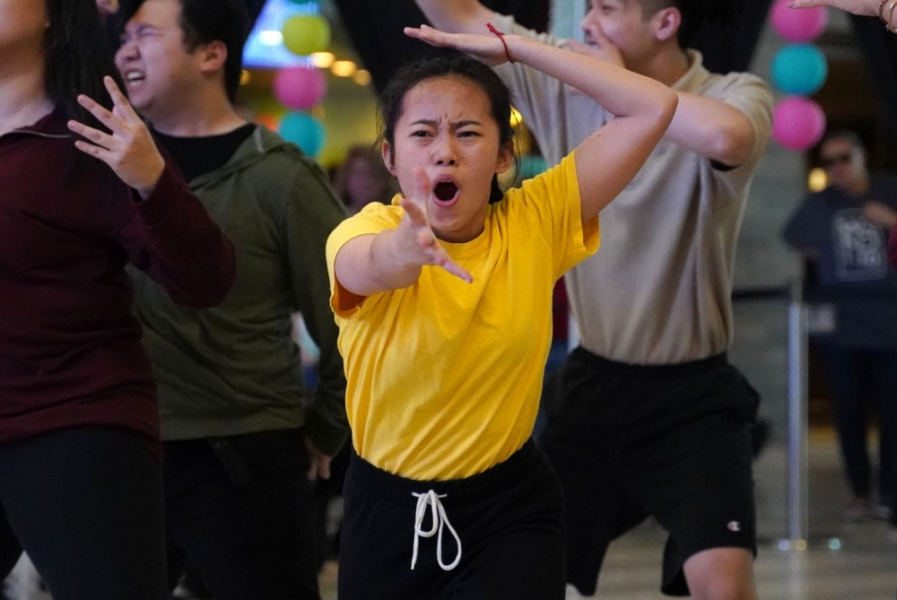 <p>Members of K-Move, at K-pop dance group, perform on Saturday, May 4 at the Pan Asian Arts Festival at the Mall of America.</p>