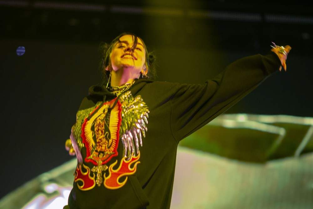 Billie Eilish performs at the Armory in Minneapolis on Saturday, June 8.