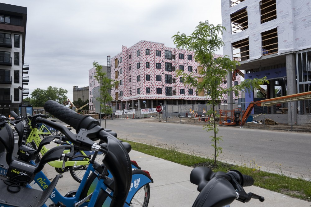 New developments in the Towerside Innovation District are seen on Sunday, June 16 in Minneapolis.