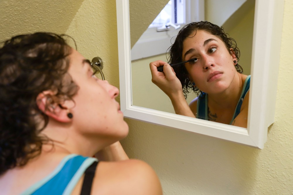 Marisol Herling gets ready for prom on Saturday, June 15 in Minneapolis.