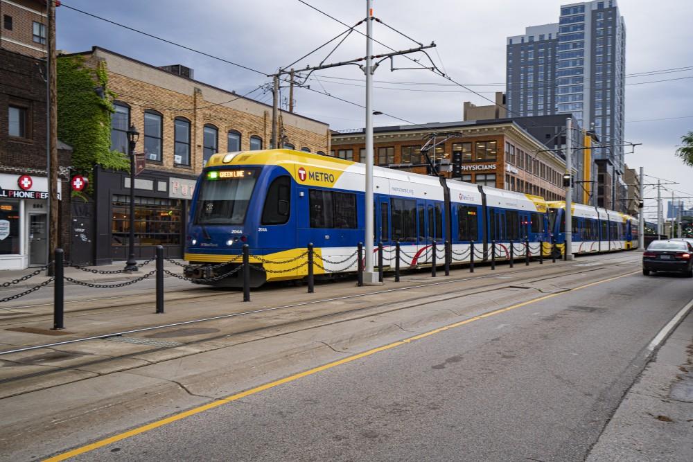 The light rail as seen on Thursday, June 20 in Minneapolis.