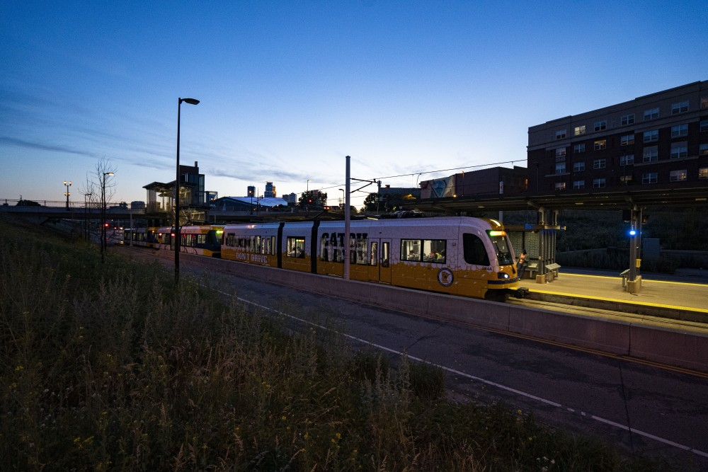 The light rail as seen on Monday, June 24 at the West Bank station in Minneapolis.