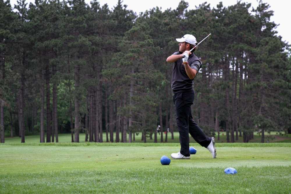 Waconia High School senior and University of Minnesota golf recruit Connor Glynn follows the ball during the Minnesota state tournament at Bunker Hlils Golf Club in Coon Rapids on Tuesday, June 11.