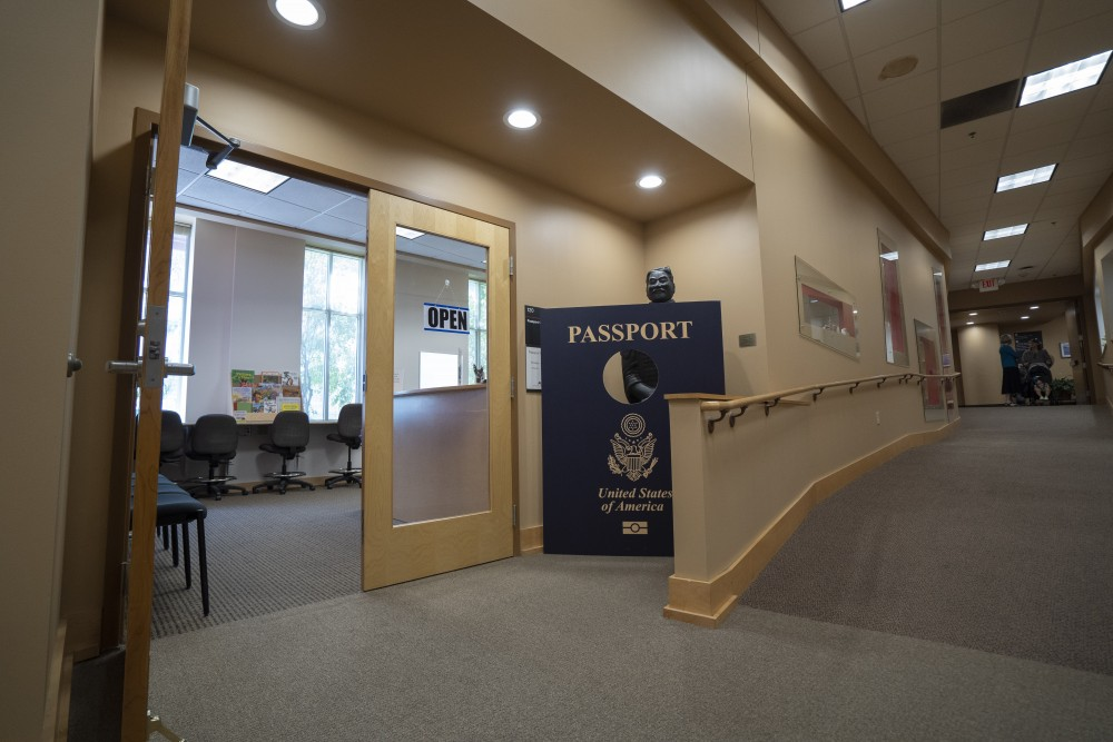 The University passport office as seen on Tuesday, July 23 in its new location on campus on Fourth Street. The new office opened on July 8.