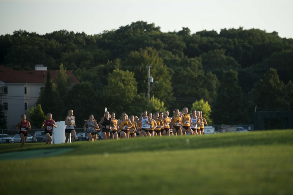 The Gophers begin their race at the Les Bolstad Golf Course on Friday, Sept. 6, 2019. Both Men's and Women's teams earned first place in the meet.