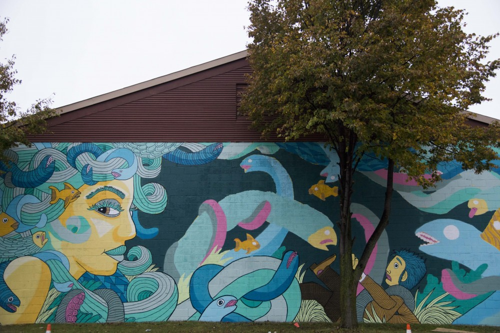 <p>A mural painted by Artist Chuck U as seen on Wycliff Street on Thursday, Sept. 12, 2019.</p>