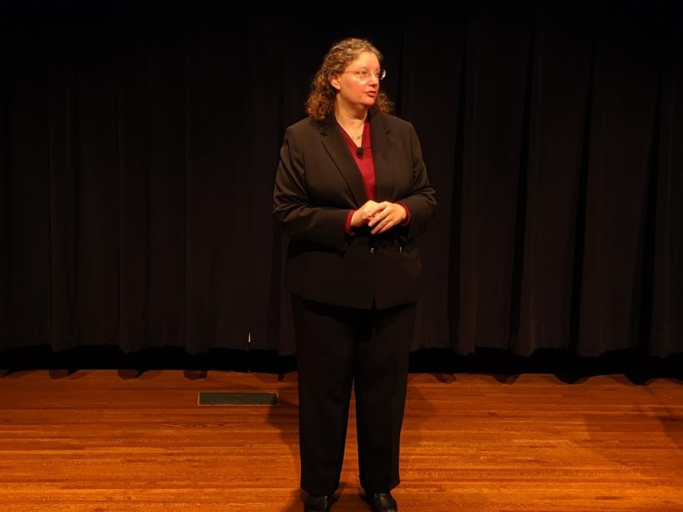 Rachel Croson, a candidate for the University of Minnesota's provost position, spoke at a public forum on Oct. 7.