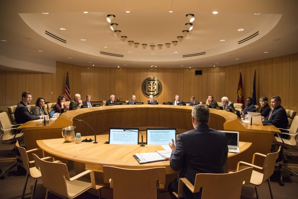The Board of Regents convene for their October 2019 meeting at the McNamara Alumni Center on Thursday, Oct. 10.