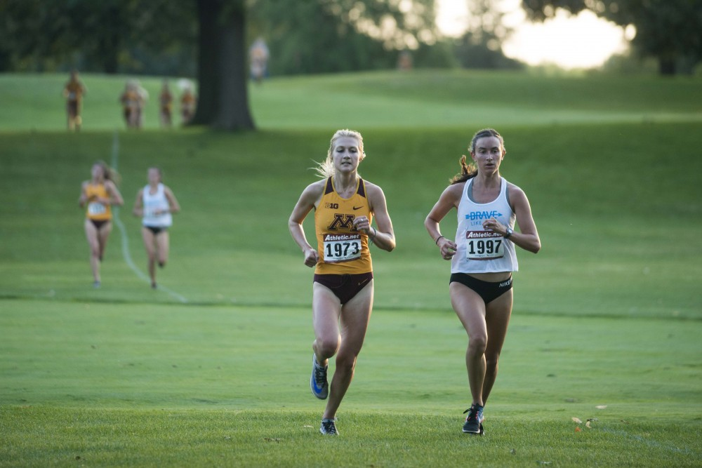 Redshirt Sophomore Jaycie Thomsen competes in the Oz Memorial at the Les Bolstad Golf Course on Friday, Sept. 6.