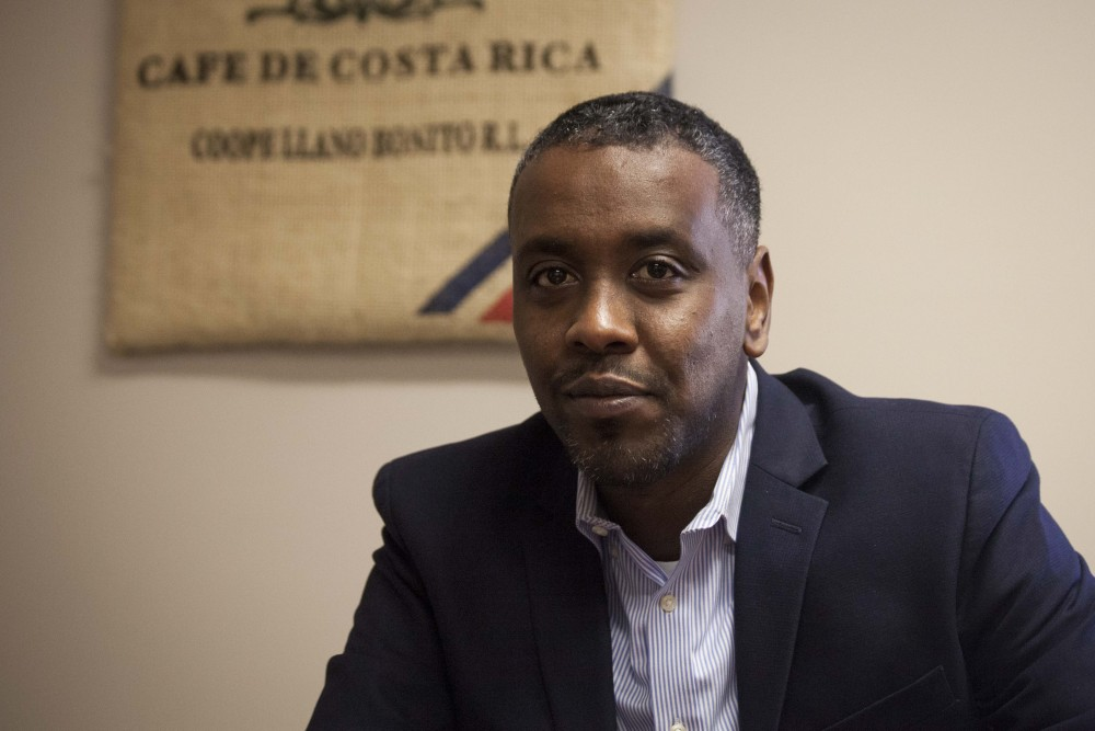 Minneapolis City Councilman Abdi Warsame sits for an interview at his office in City Hall on Thursday, Oct. 17. The first Somali-American elected to the council, Warsame has headed multiple initiatives aimed at addressing issues of jobs, housing, safety and community development.