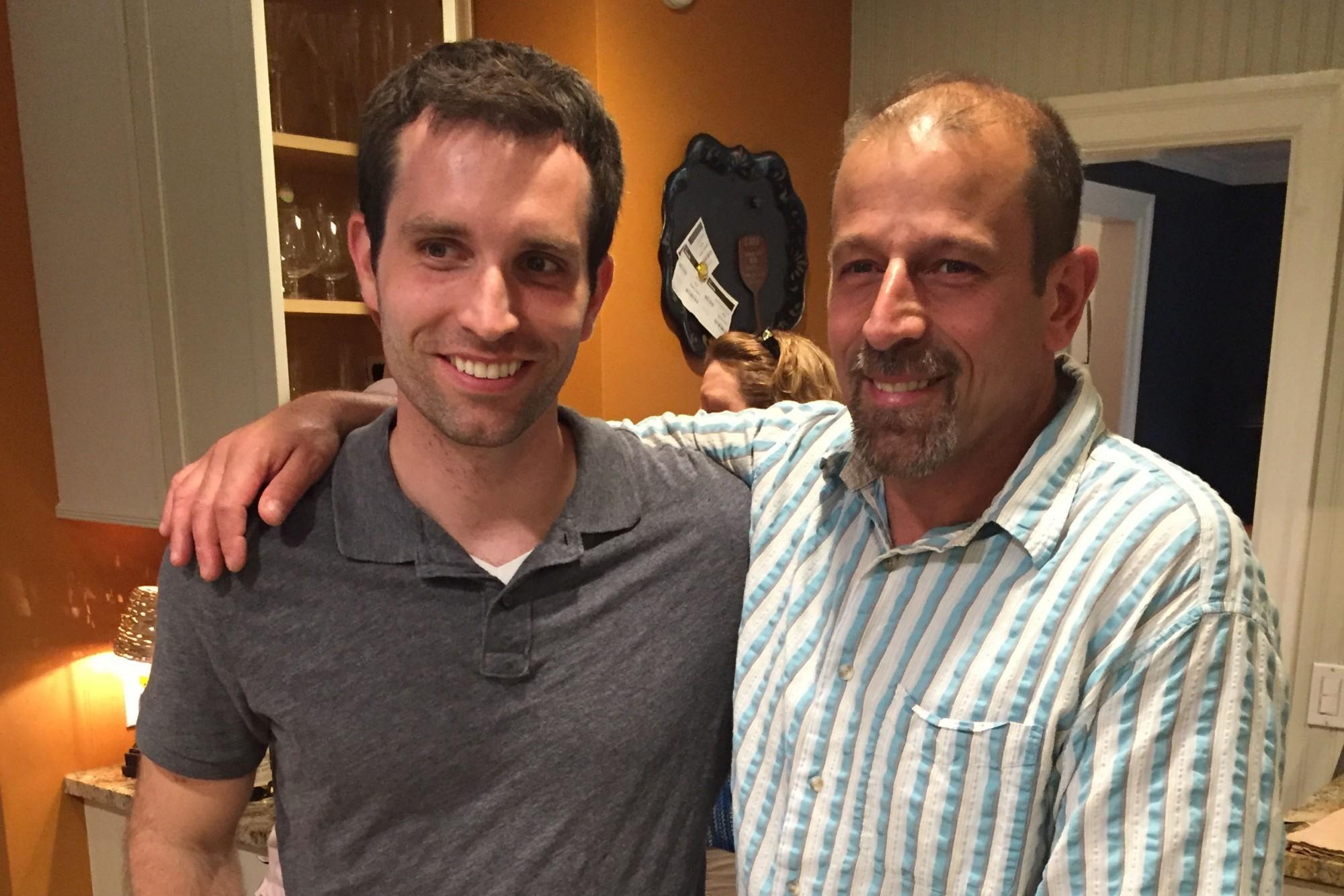 Ben Elliot, left, the bone marrow donor, and Doug Parisano, right. Courtesy of Gina Elliot.