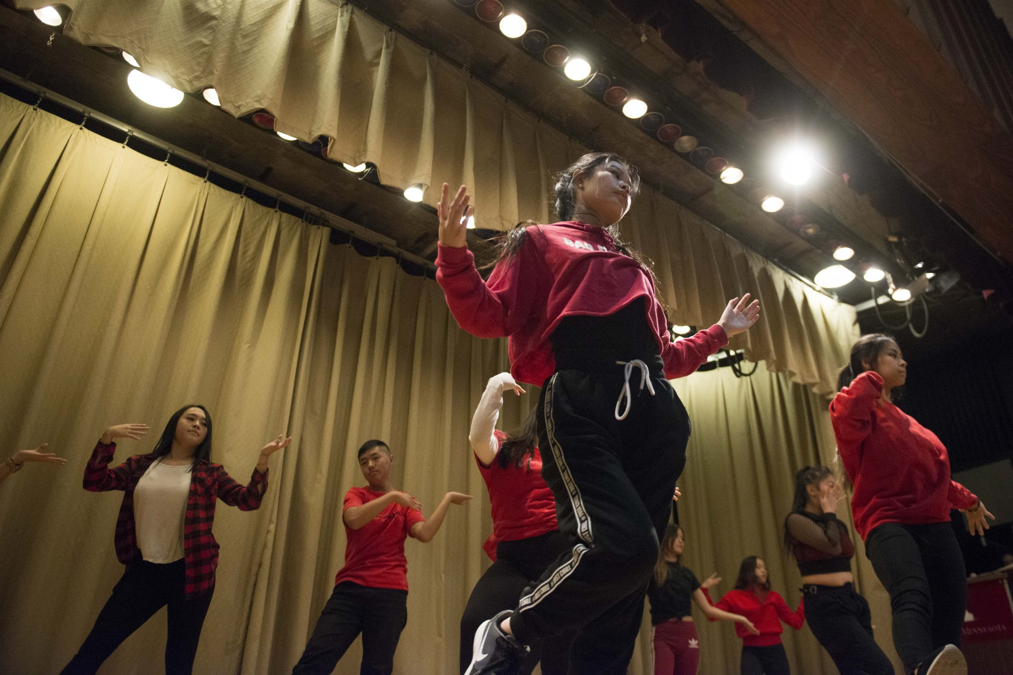 Cre.Ture Crew performs during the Hmong New Year event at the St. Paul Student Center on Friday, Nov. 8. The majority of the group's performers are high school students.