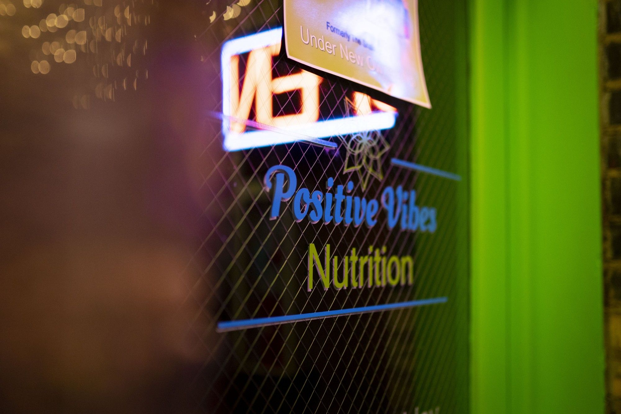 The entrance to Positive Vibes Nutrition's new Dinkytown location as seen on Friday, Nov. 15.