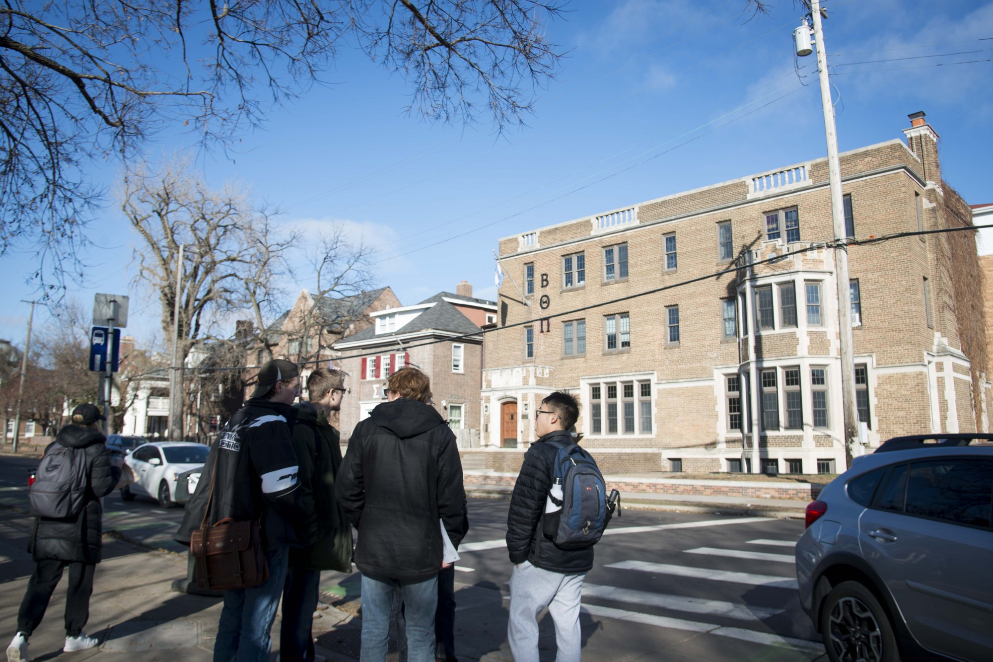 Frat Row, home to the majority of fraternities on campus, as seen on University Avenue Southeast on Friday, Nov. 22.