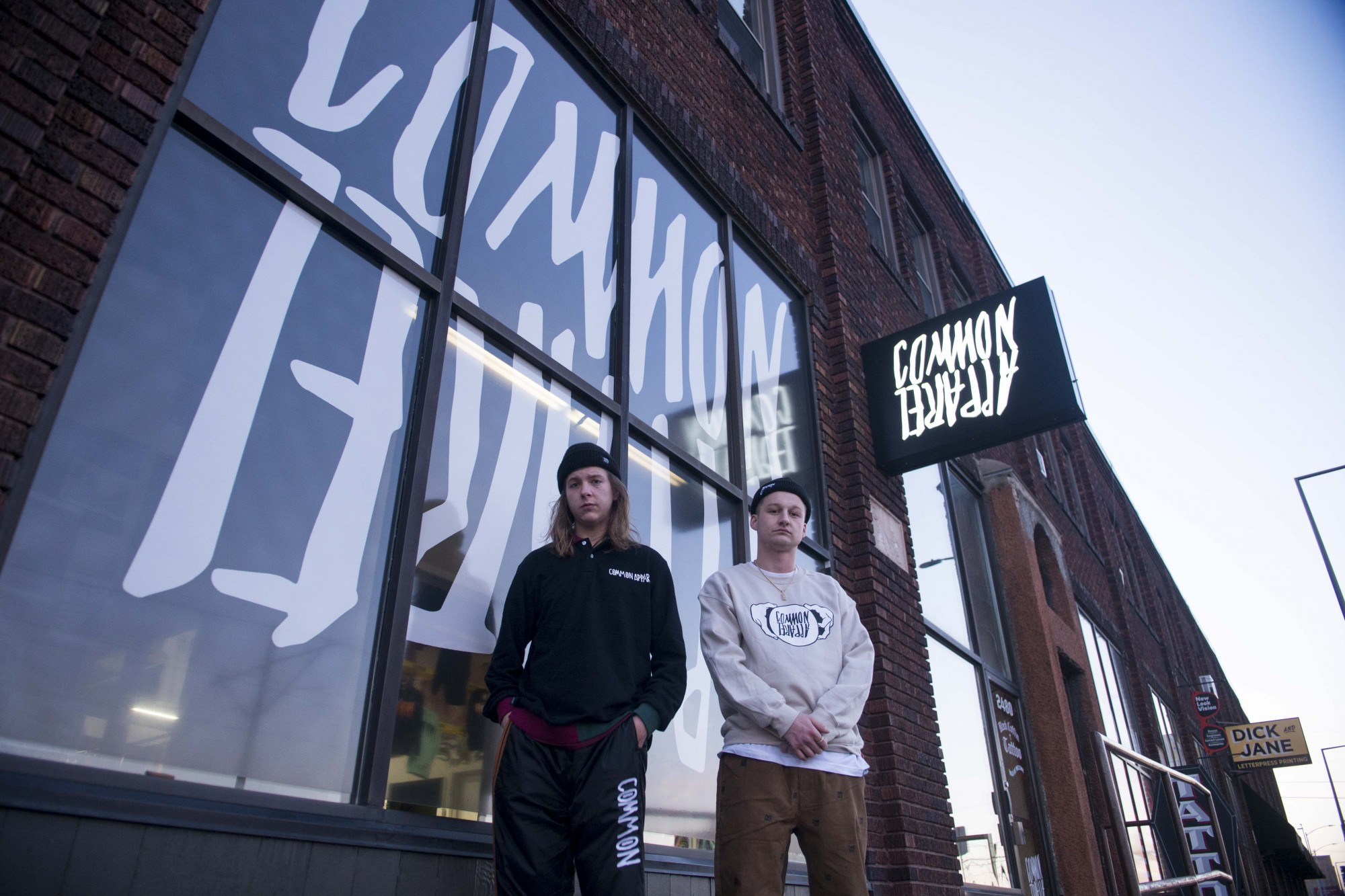 Nate Blomquist, left, and Colton Allen, right, who own the apparel shop