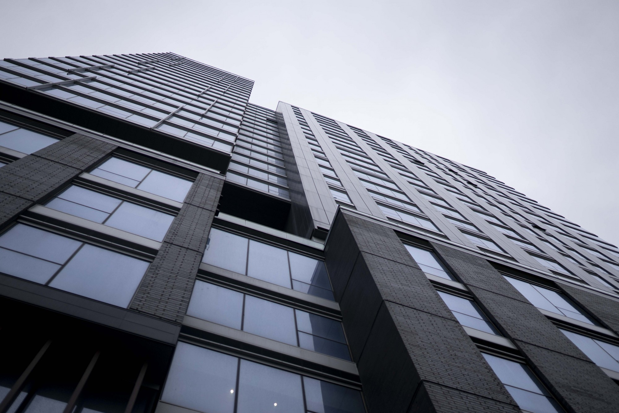 The Hub Apartments in Minneapolis are seen on Tuesday, Nov. 26. High rise building such as these are subject to a new online data dashboard the monitors the health of residents.