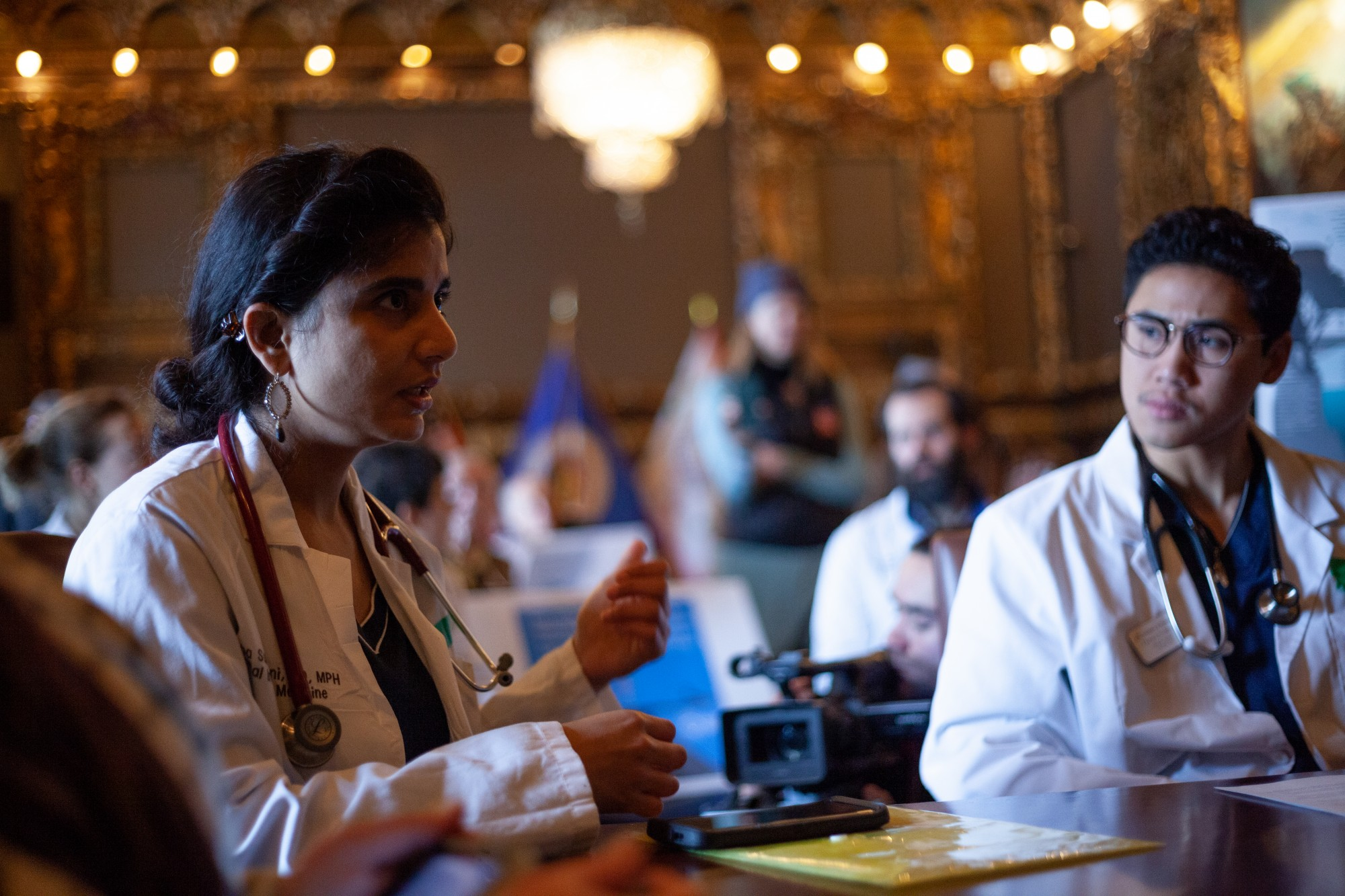 University of Minnesota Assistant Professor of Medicine Vishnu Laalitha Surapaneni, MD speaks at a
