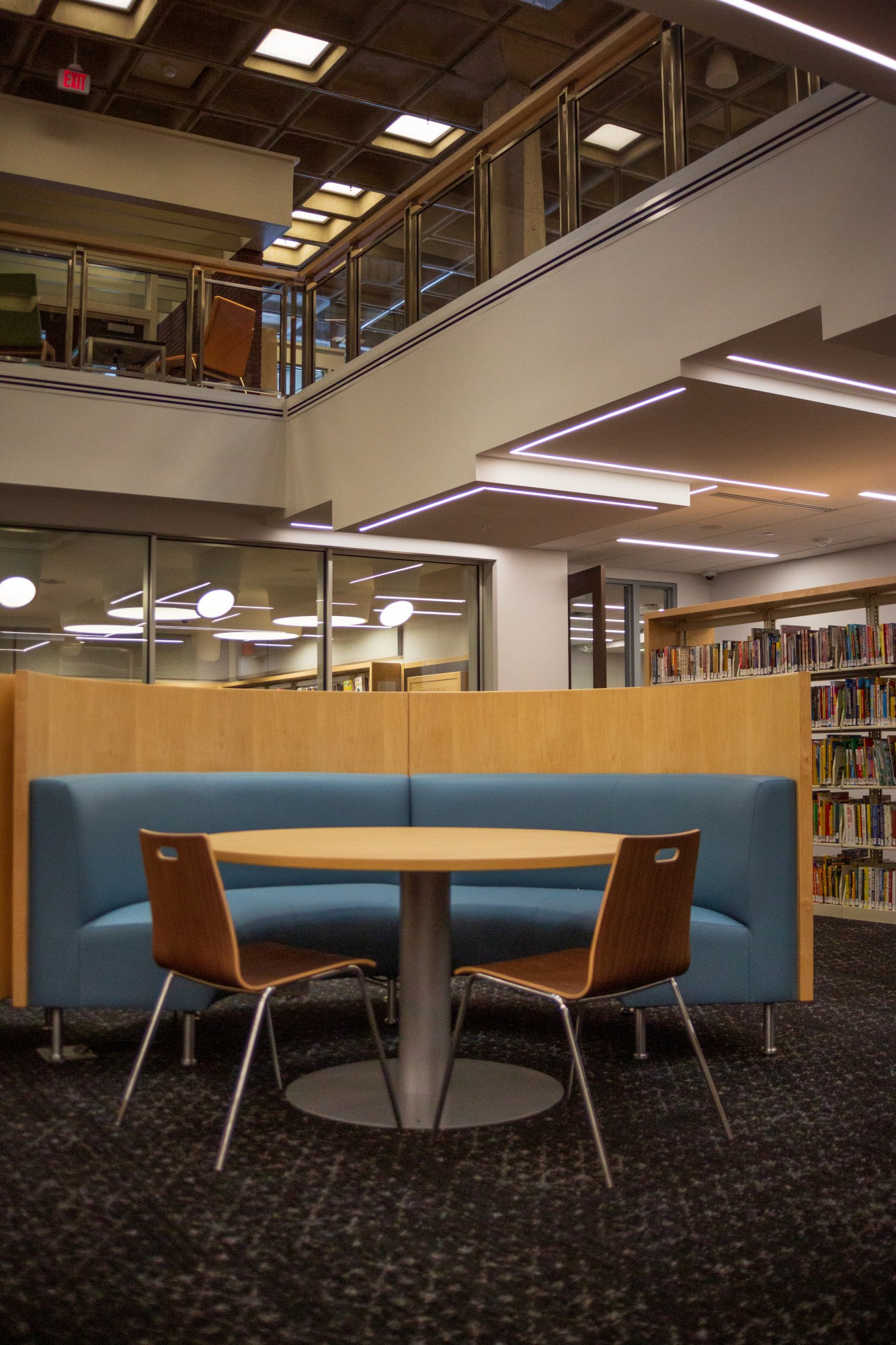 New installments in the Arvonne Fraser Library pay tribute to the building's original architect, Ralph Rapson and library patron Arvonne Fraser on Friday, Jan. 17.  The newly renovated building is set to open on Jan. 25. (Liam Armstrong / Minnesota Daily)