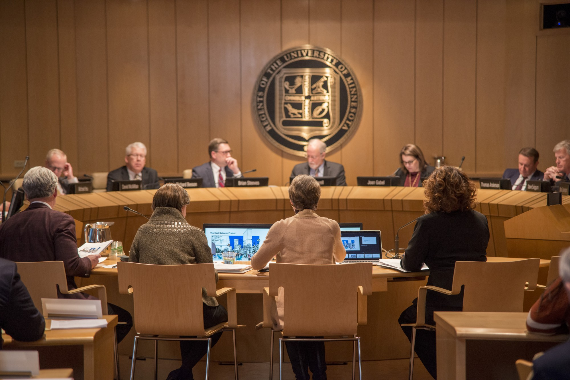 The Board of Regents meet about the East Gateway Project Resolution, on Friday, Feb. 14, 2020. The Board of Regents holds a meeting each month.