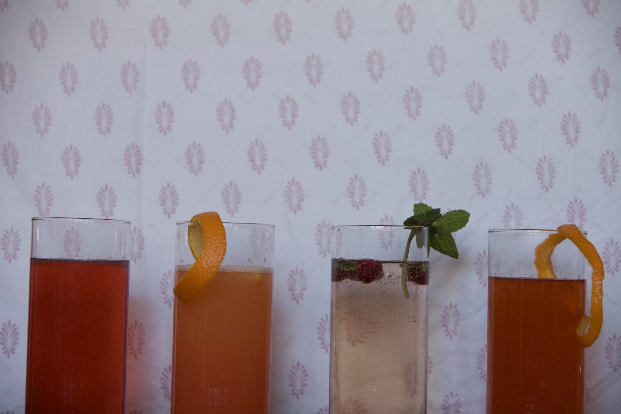 <p>Minnesota Daily Reporter Norah Kleven mixes Valentine's Day themed cocktails in her home on Tuesday, Feb. 11.</p>