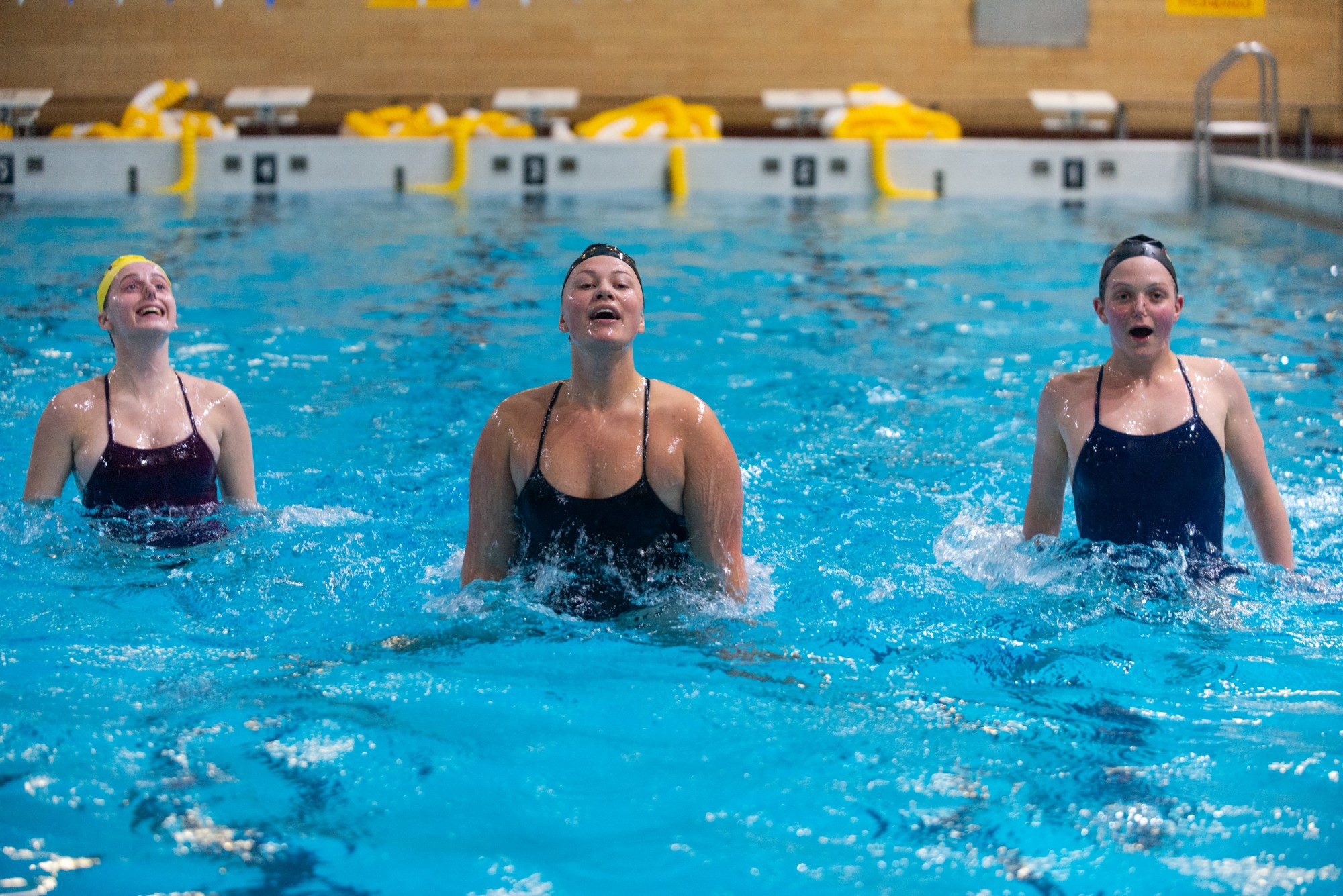 Members of the University's Synchronized Swimming Club participate in a practice session in Cooke Hall on Wednesday, March 4.