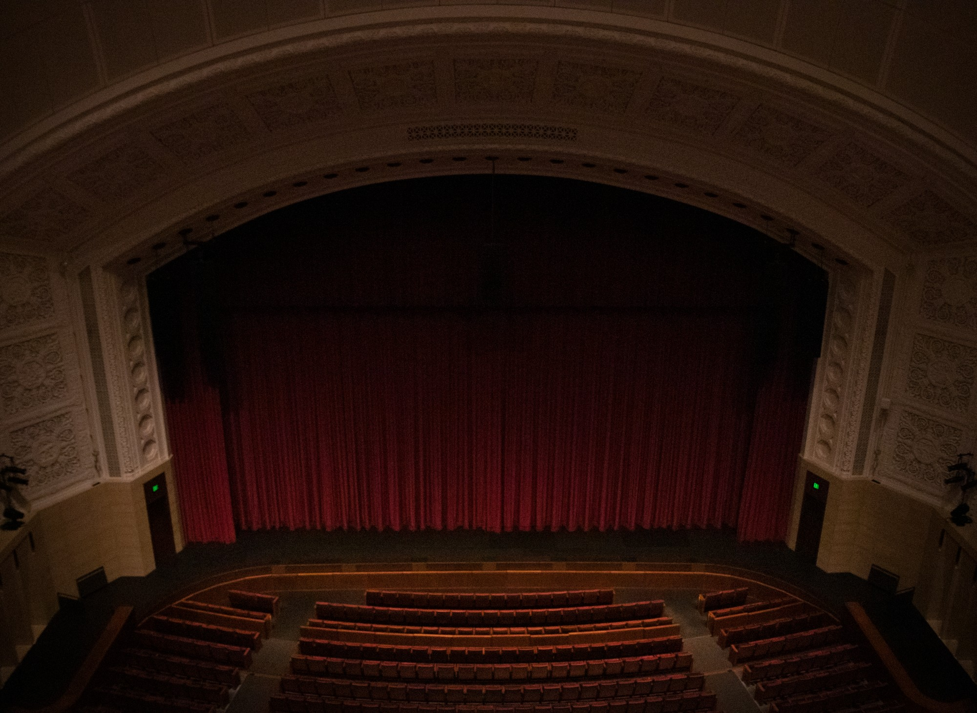 The empty theater of Northrop Auditorium on Tuesday, March 17.