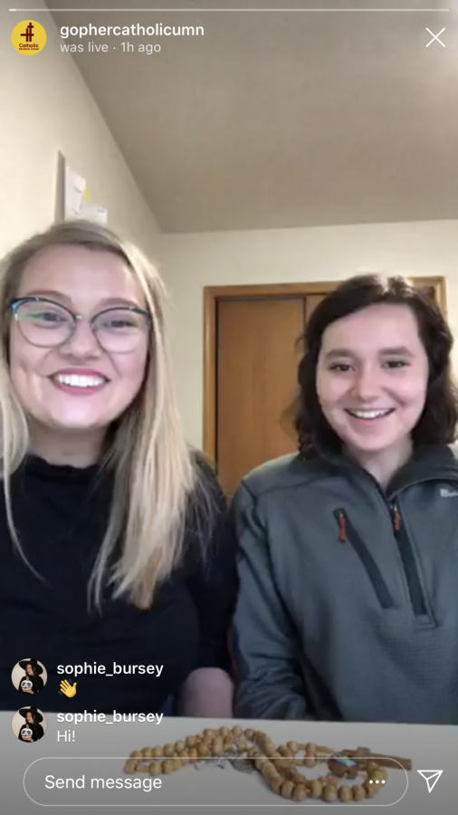 A Catholic Students United daily prayer session is hosted on Instagram Live.