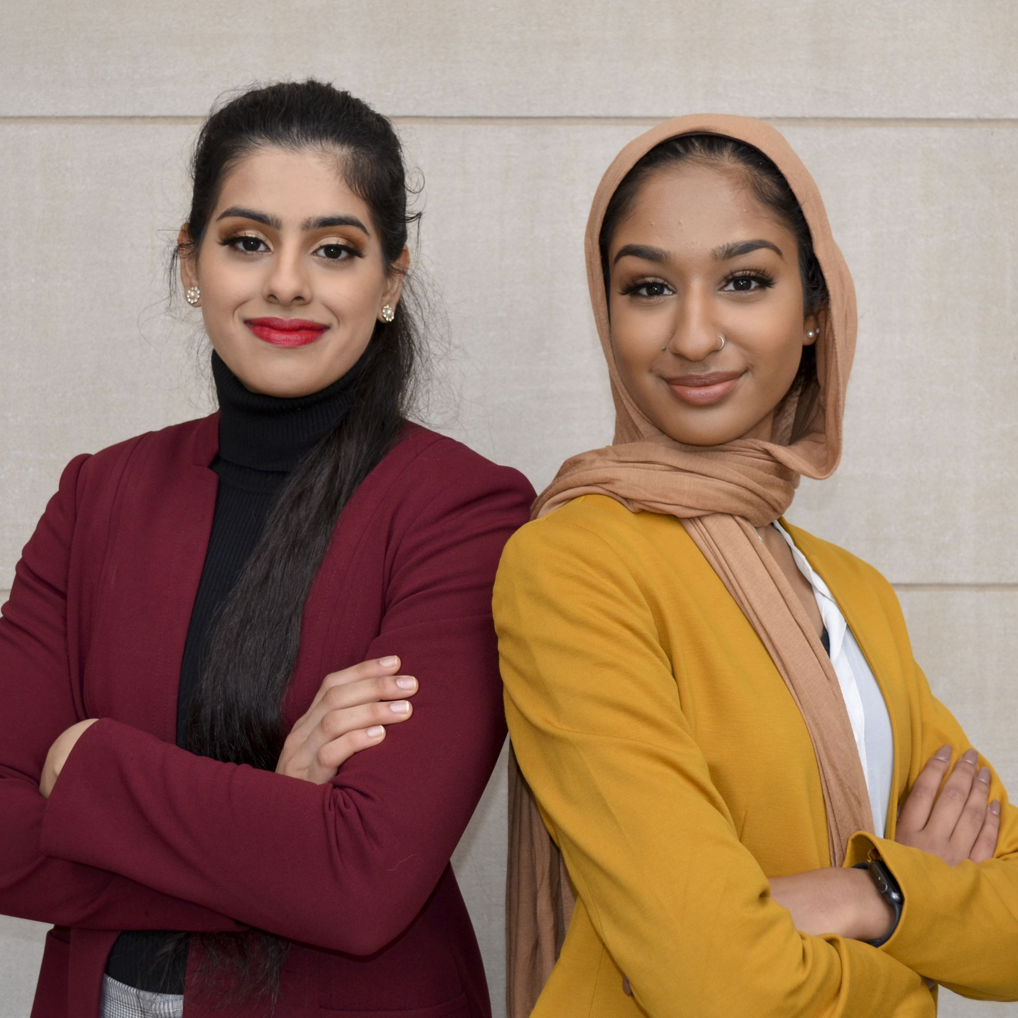 Presidential candidate Gurtaran Johal, left, and vice presidential candidate Arshia Hussain, right. Courtesy of the candidates.