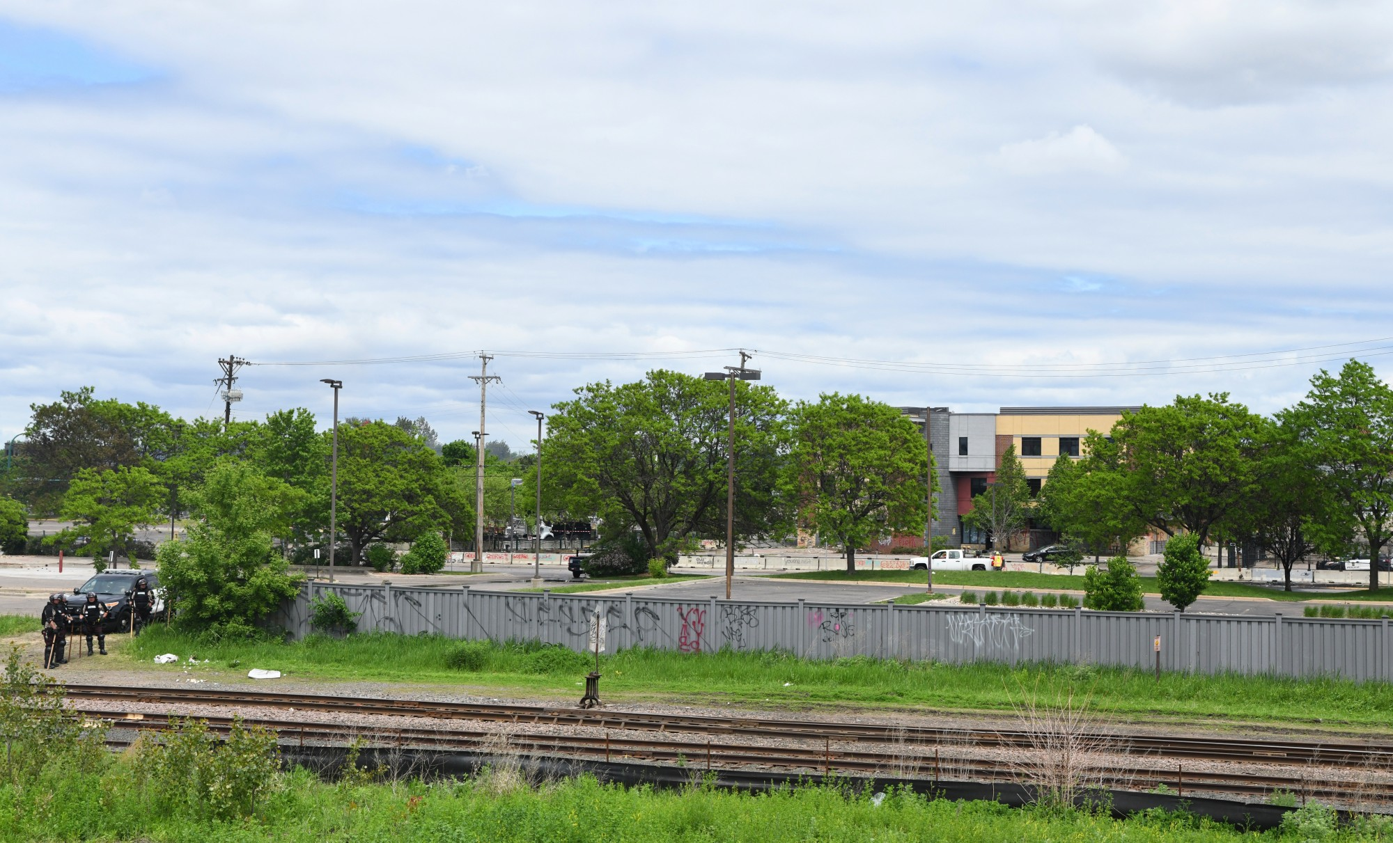 The MPD 3rd Precinct as seen from Hiawatha Ave in Minneapolis on Friday, May 29.
