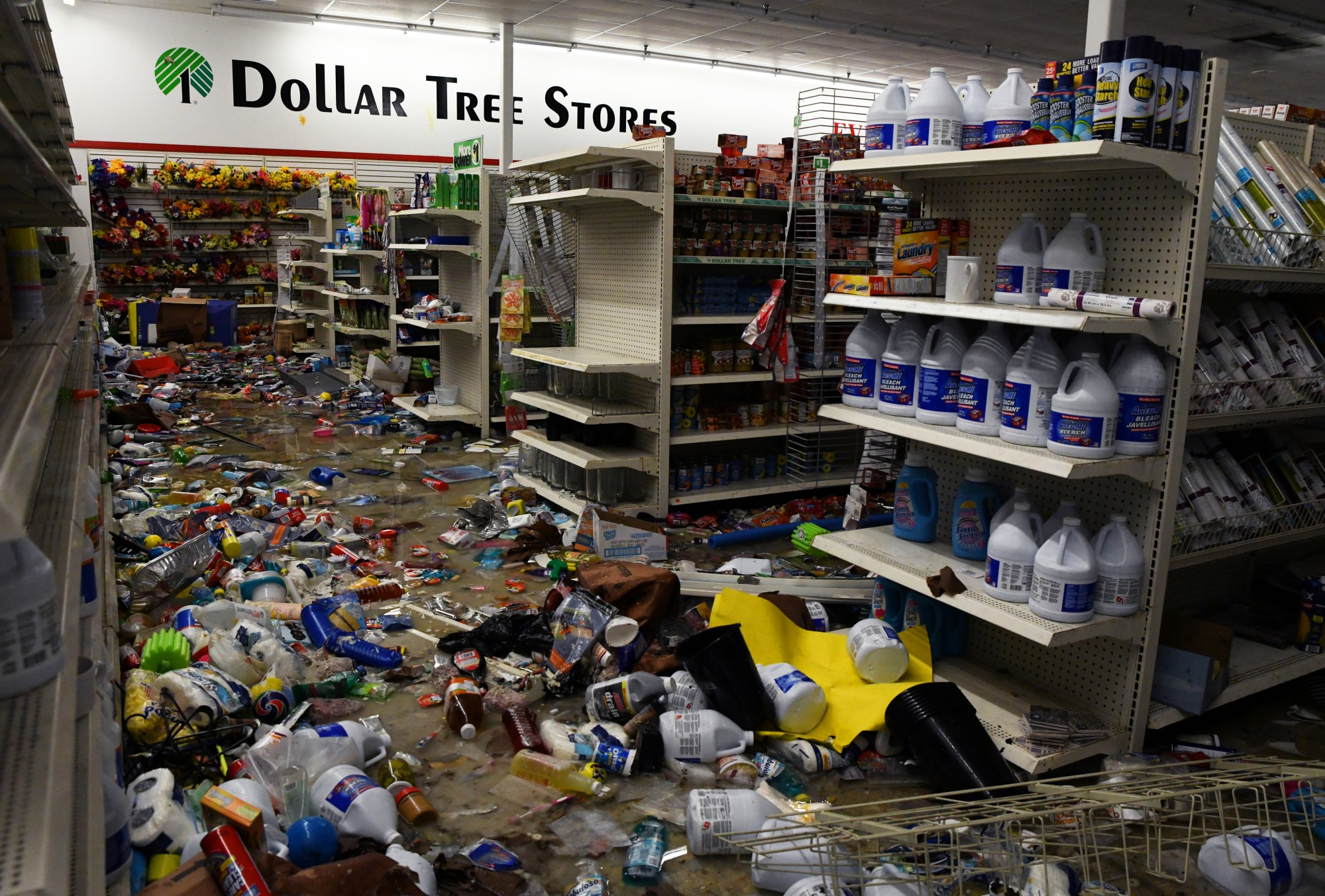 The interior of the Dollar Tree on E Lake Street in Minneapolis on Friday, May 29.