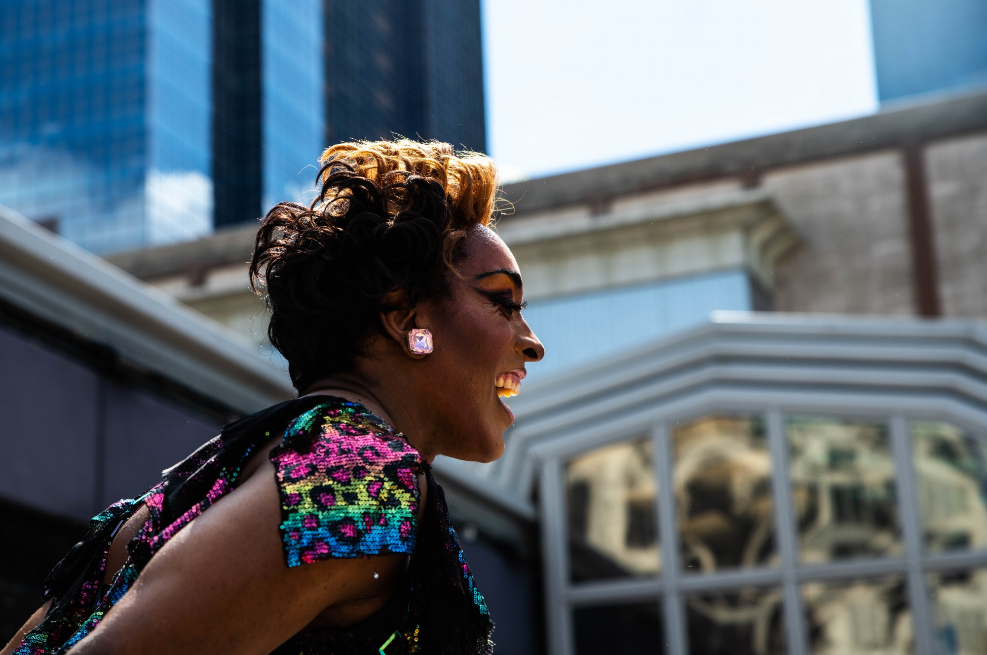 Genevee Ramona Love performs at the Pride Drag Brunch at Union Rooftop on Saturday, June 27.