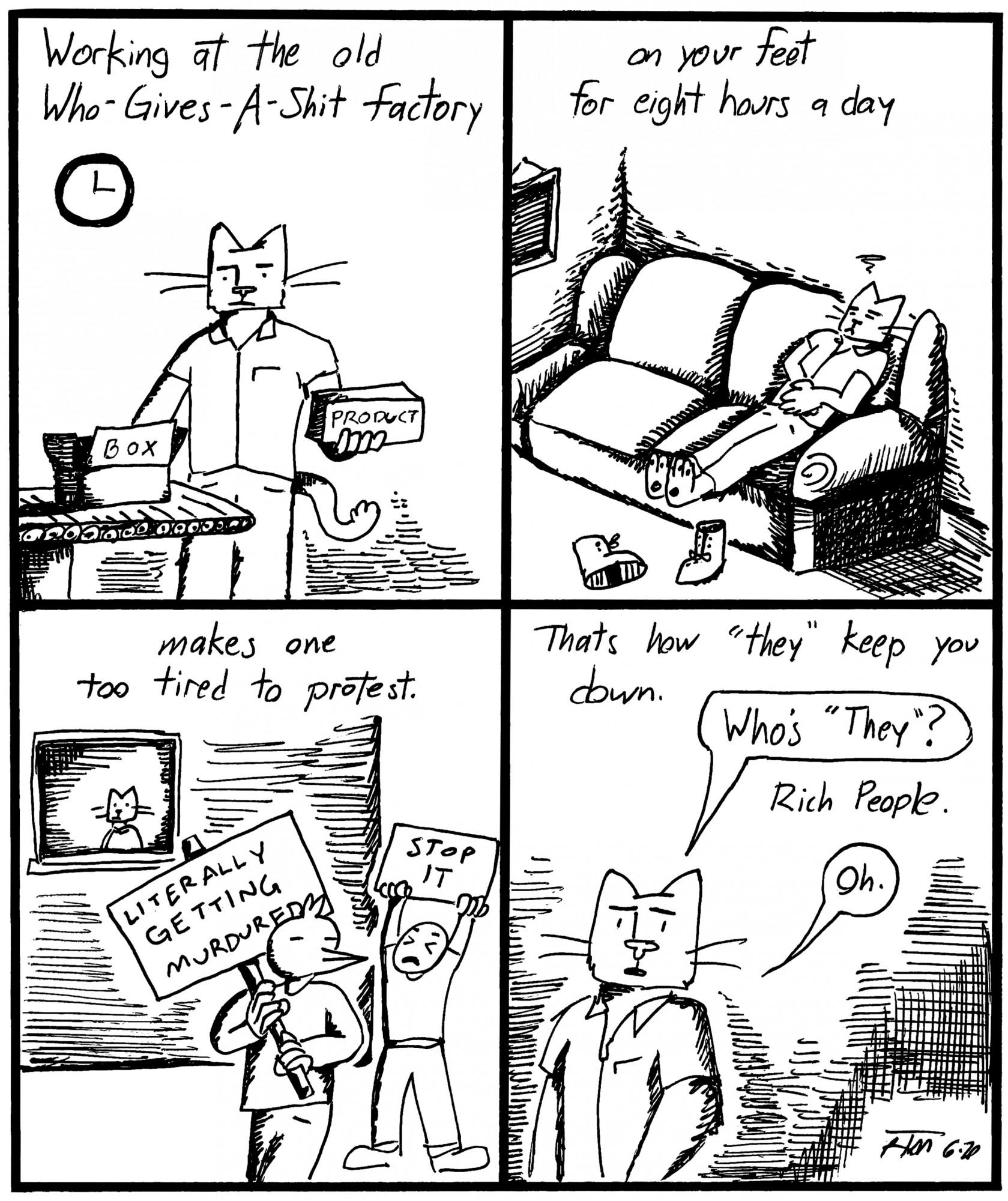 Editorial Cartoon: Workin' Nine to Five