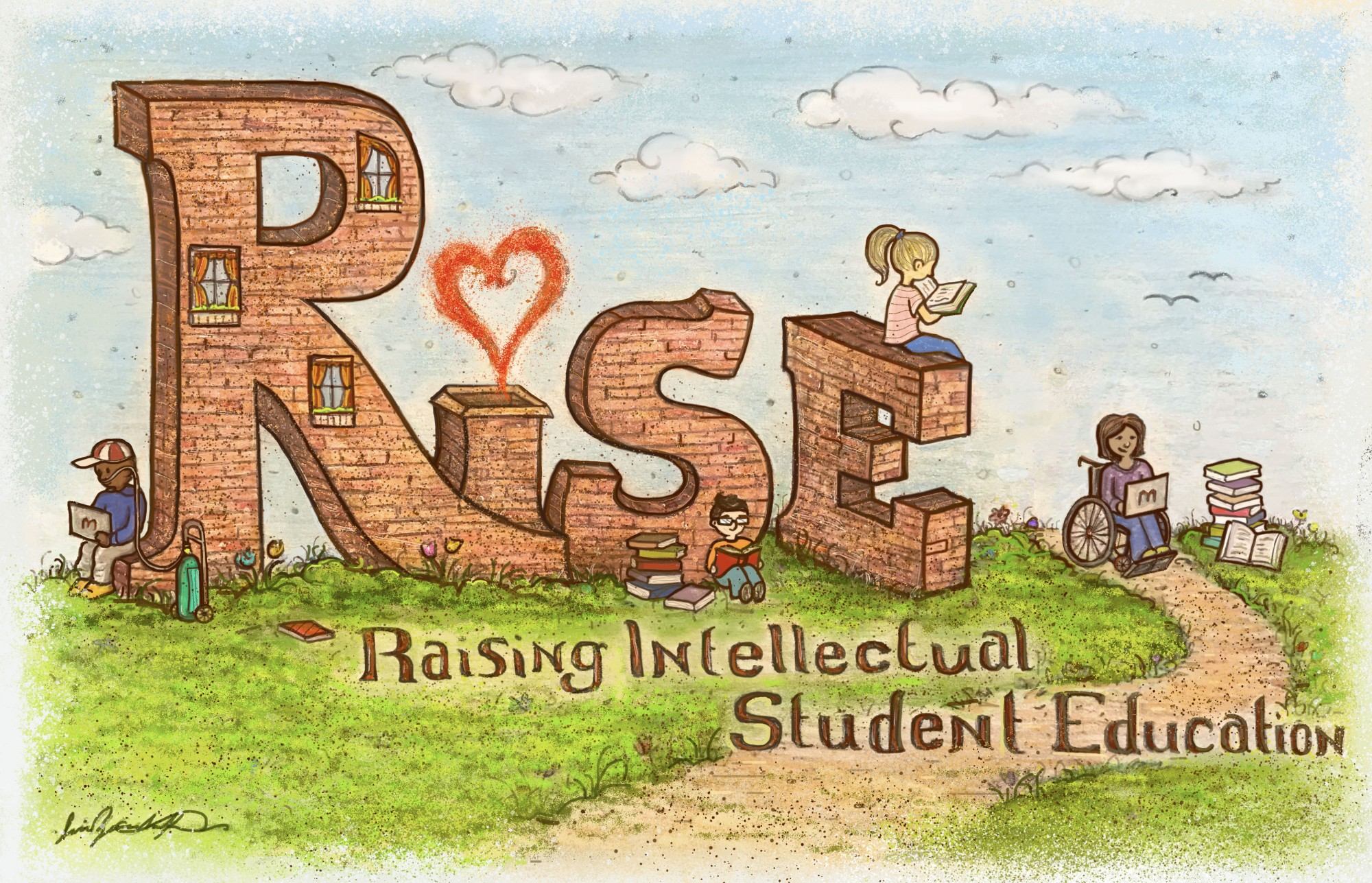 A variety of kids with different backgrounds and health concerns, all striving to continue their education by using the upcoming program, RISE. (Jaci Zemenchik)