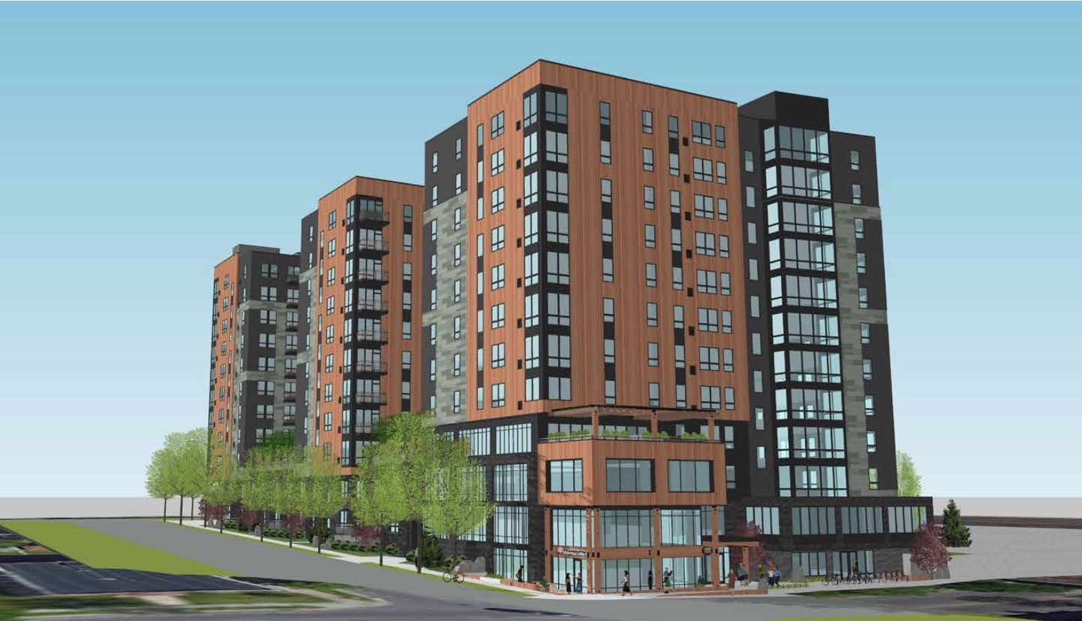 Concept rendering for a 12-story development on 15th Avenue.