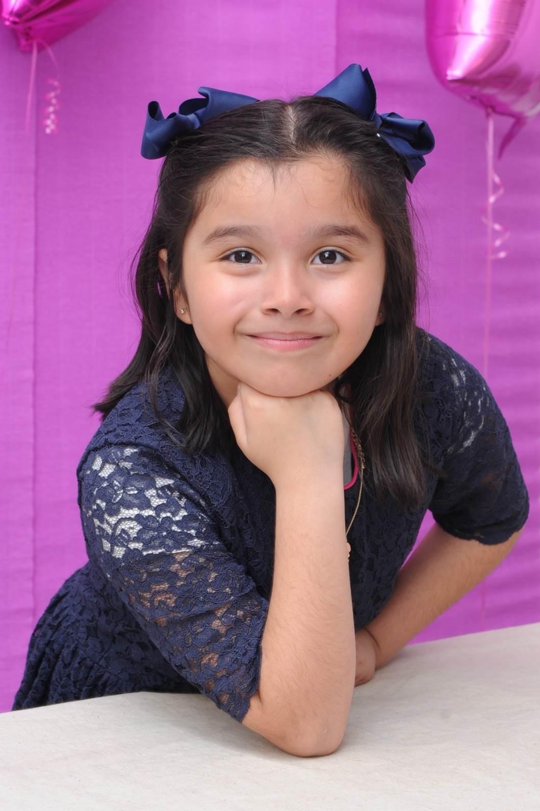 Veronica Sanchez-Morales, 8, poses for a portrait.