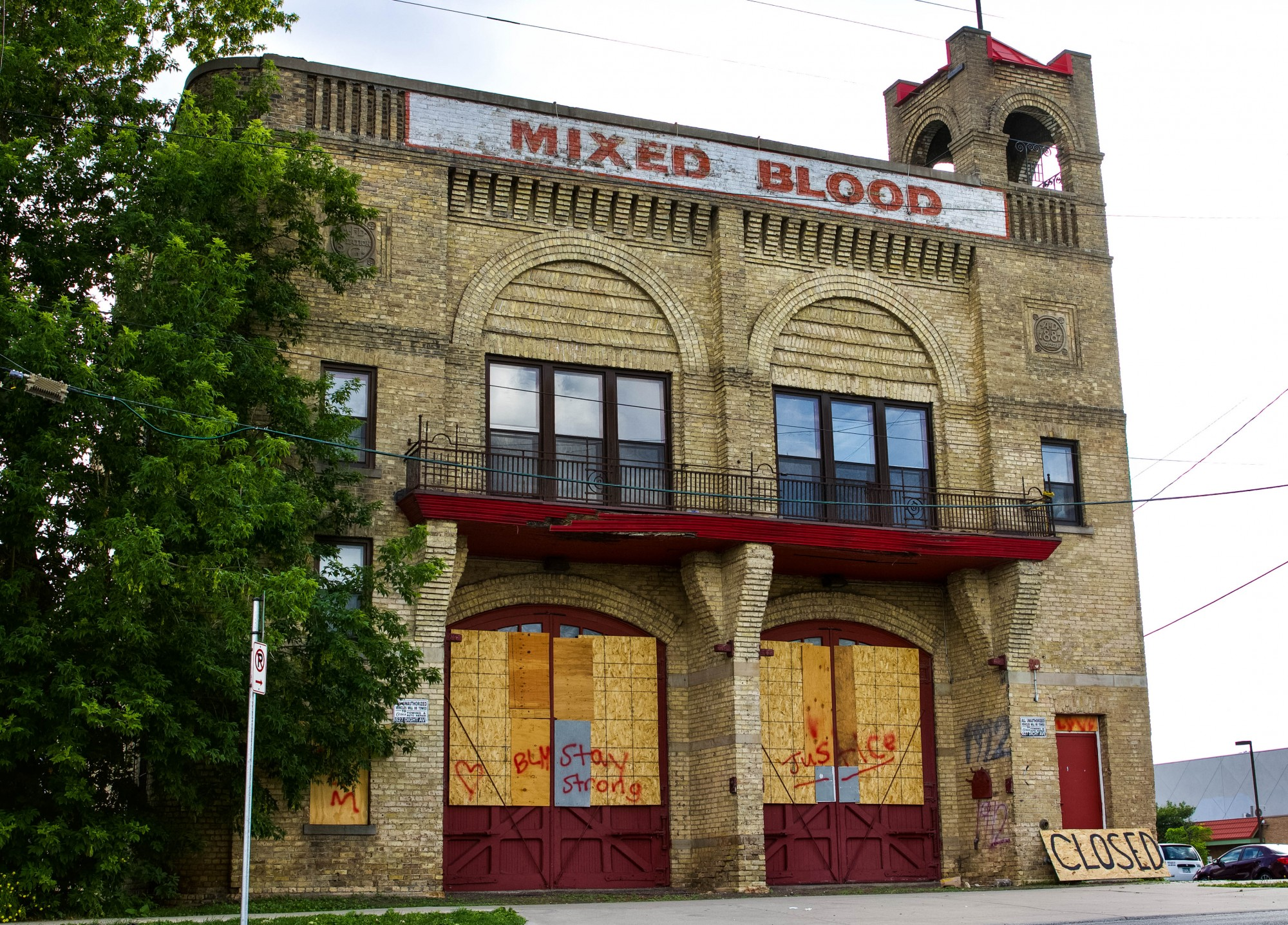Mixed Blood Theater, located in Riverside Plaza, sits closed on Wednesday, July 1 in Minneapolis.