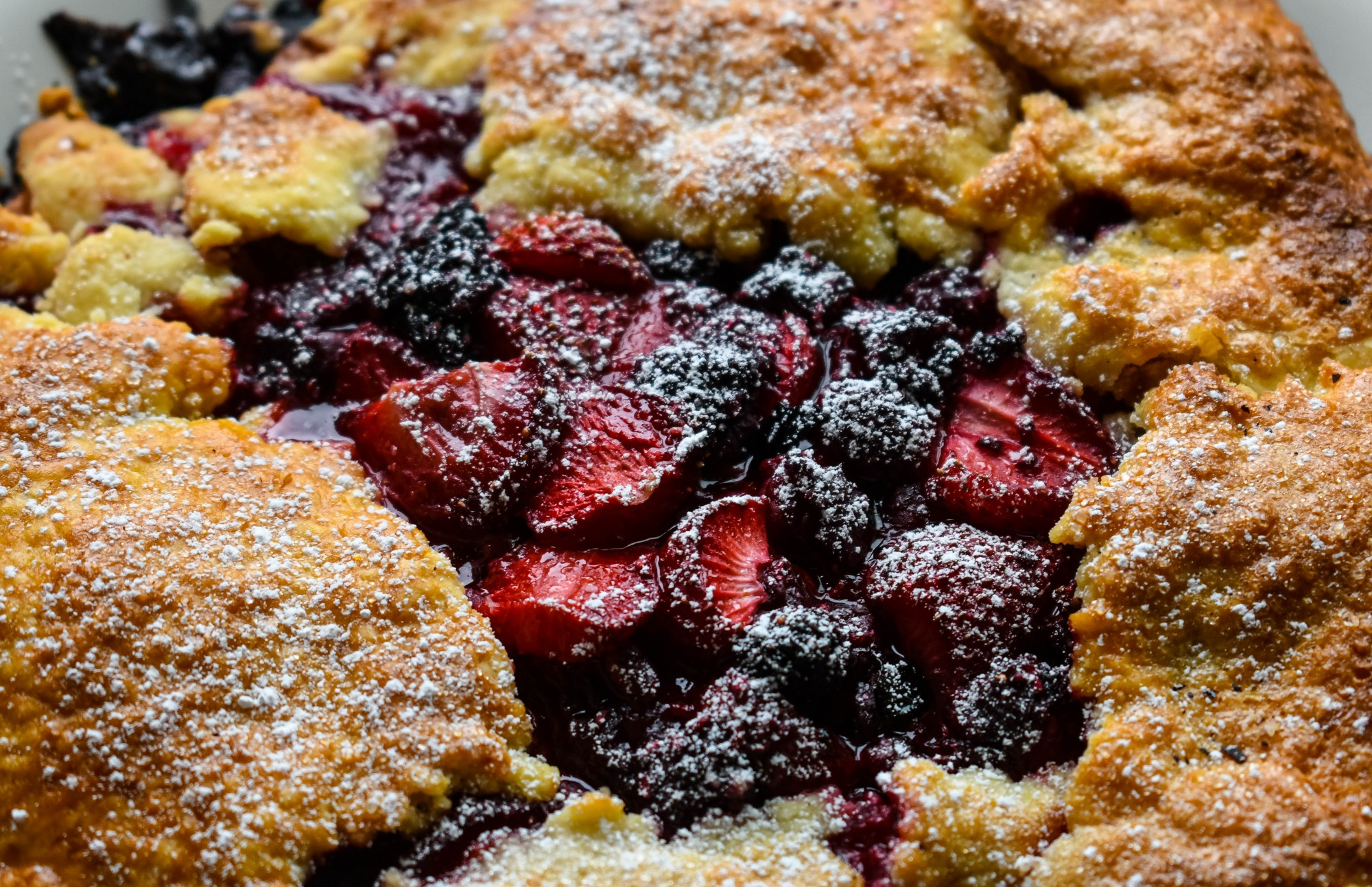 Homemade Berry Galette made during the College Kitchen segment on Wednesday, July 22. The dishes were made with ingredients from Minneapolis Farmers Markets.