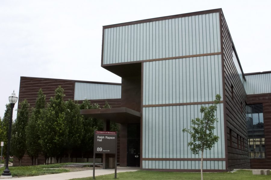 Ralph Rapson Hall, home to the University of Minnesota's architecture program, is located on Church St. SE on East Bank Campus, Wednesday, July 15, 2020.