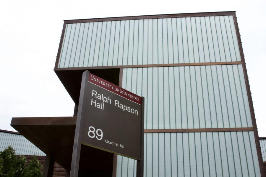 Ralph+Rapson+Hall%2C+home+to+the+University+of+Minnesota%E2%80%99s+architecture+program%2C+seen+located+on+Church+Street+Southeast+on+Wednesday%2C+July+15%2C+2020.%26nbsp%3B