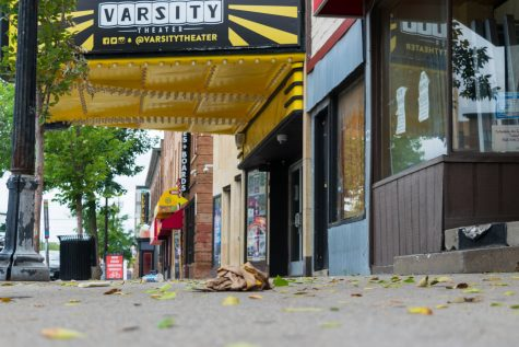 The corner of Fourth Street and 15th Avenue in Dinkytown on Sunday, Sep. 6.  Dinkytown businesses have been working with University groups to determine how to best operate during the pandemic.