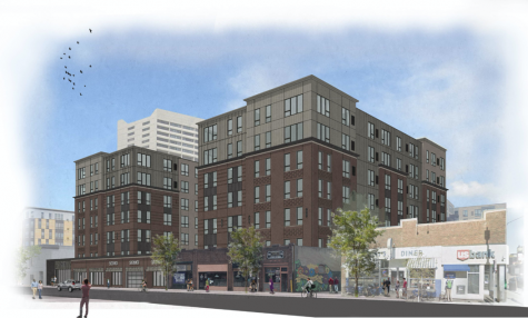 <p>Concept rendering for the proposed development located on Fourth Street in Dinkytown.</p>