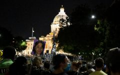 Demonstrators gather outside of the State Capitol to protest on Wednesday, Sep. 23.  The protest, which began on the State Capitol mall and ended on Interstate 94, was in response to the recent decision in Louisville, Kentucky not to charge the officers involved in Breonna Taylor's death.