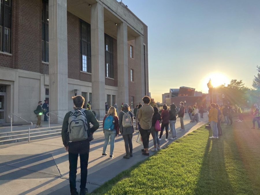 Students for a Democratic Society kicked off the new semester with a rally in front of Coffman Union on Friday, Sept. 18. They continued their summer-long calls for community oversight of university police.