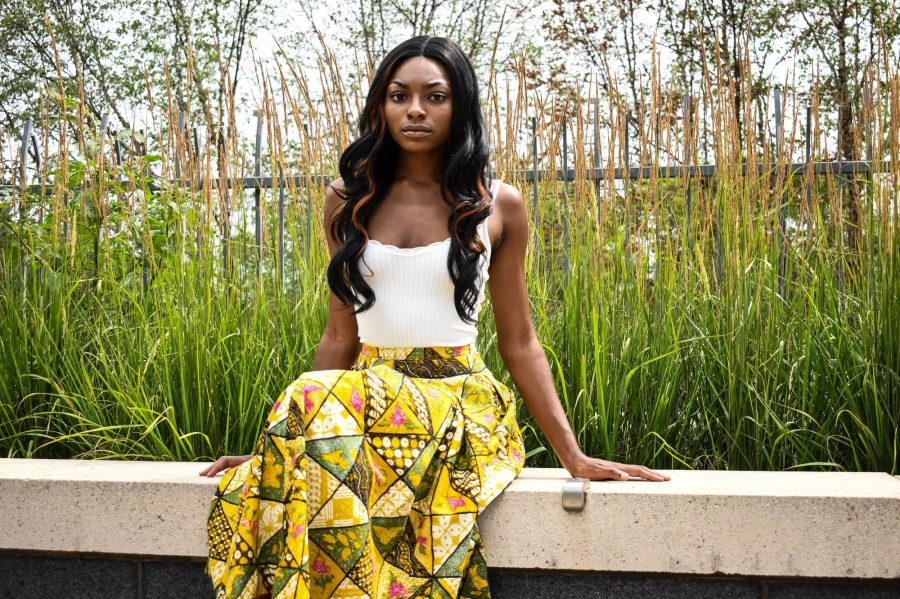 <p>Nautica Flowers, a current University student and activist fighting for racial equality within Eagan High School, posed for a portrait near Coffman Memorial Union on Wednesday, July 15. Students like Flowers are fighting for change within District 196 schools.</p>