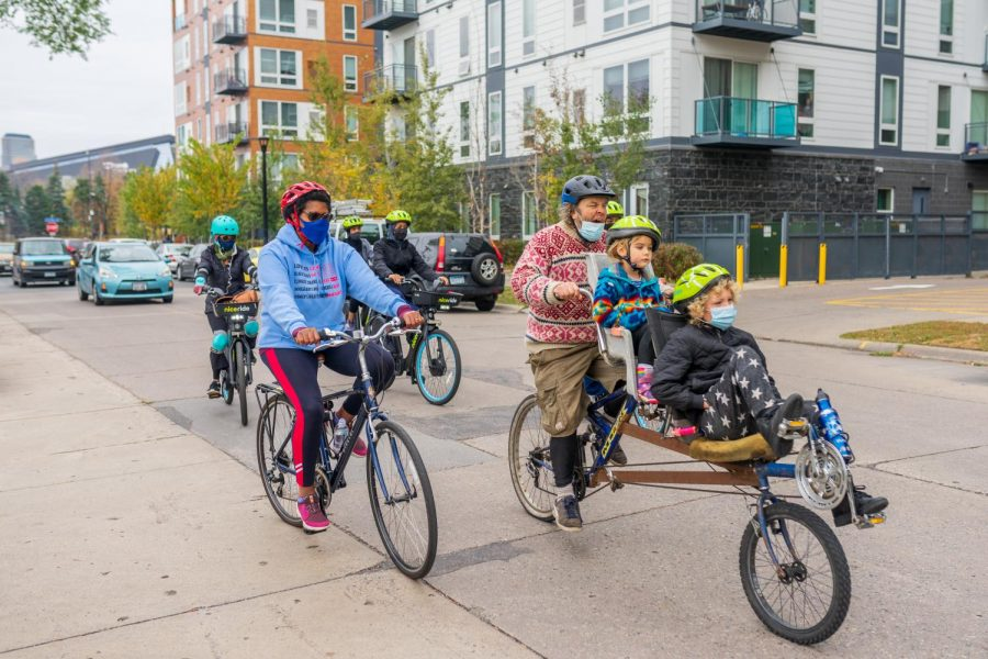 Cyclists and art car drivers made their way around Cedar-Riverside on Saturday, Oct. 17 to build community and increase voter turnout.